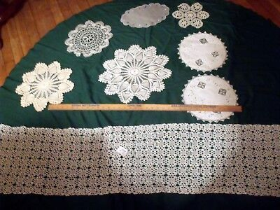 "LOT OF ESTATE - Vtg Antique Hand Made Lace Doily's Doilies ""Made by GRAMMY"""