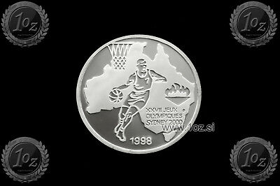 CONGO 500 FRANCS 1998 (SYDNEY 2000 - BASKETBALL) SILVER Commemor. coin * PROOF