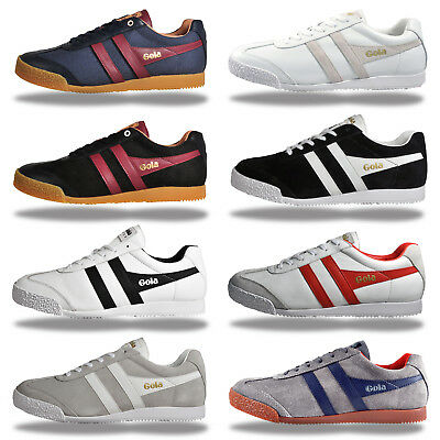 Gola Classics Mens Harrier Suede & Leather Vintage Retro Trainers - From £23.99