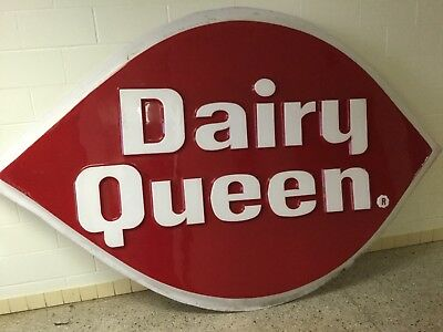 Large Dairy Queen Sign 9 Foot Wide X 6 Foot Tall Man Cave Advertising