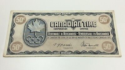 1976 Canadian Tire 50 Cents CTC-S5-E Circulated Money Olympic Banknote D213