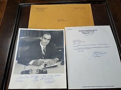 Jim Wright U.S. Congressman 1975 PHOTOGRAPH SIGNED Congress Texas