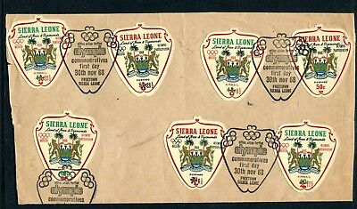 1968 Sierra Leone Olympic Participation + Annullo Speciale H059