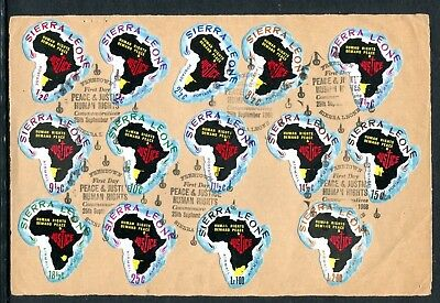 1968 Sierra Leone Human Rigths + Annullo Speciale H061