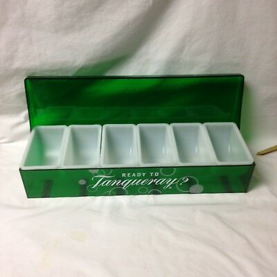New Tanqueray Condiment Holder Bar Ware 6 Tray Garnish Holder Man Cave