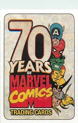 2010 Rittenhouse Marvel 70Th Anniversary - Pick / Choose Your Cards