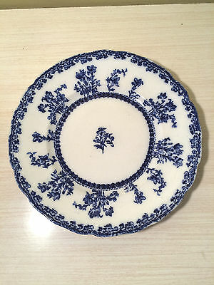 """Louise Flow Blue  9""""  Scalloped Rim Plate   ~  New Warf Pottery"""