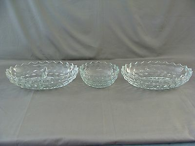 Anchor Hocking Round Bowl, Oval Dish & Divided Dish, Waterford Waffle Pattern