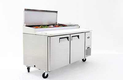 """New 67"""" Refrigerated Pizza Prep Table 2 Doors 9 Pan Free Shipping Free Lift Gate"""
