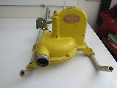 Vintage Yellow Dial-A-Rain Lawn Sprinkler Made By LR Nelson Sprinklers Untested