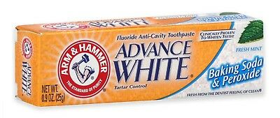 ARM - HAMMER Advance Baking Soda - Peroxide Toothpaste, Fresh Mint 0.90 oz