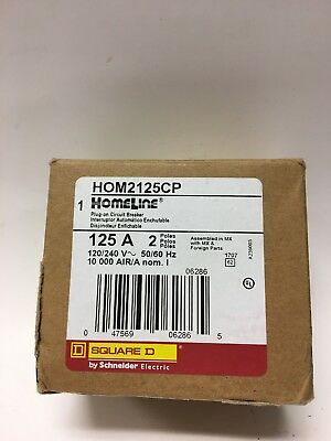 125A DP Circuit Breaker,No HOM2125CP,  Square D By Schneider Electric