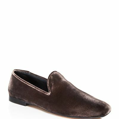 cb3090a5688  295 size 10 Vince Bray Smoking Warm Gray Velvet Slip On Loafers Womens  Shoes