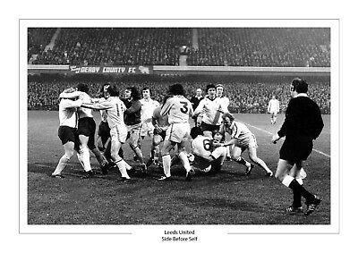 Leeds United Iconic Derby Fight A4 Print Photo Leeds Utd Side Before Self