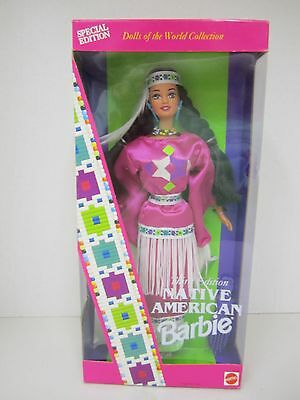 """Third Edition """"NATIVE AMERICAN"""" Barbie - Dolls of the World Collection -"""