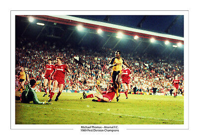 Michael Thomas Goal Arsenal 1989 First Division Champions Print Photo