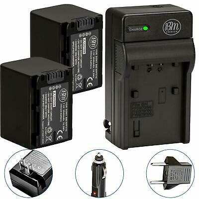 BM Premium Pack of 2 NP-FV70 Batteries & Charger Kit for Sony FDR-AX53 HDR-CX...