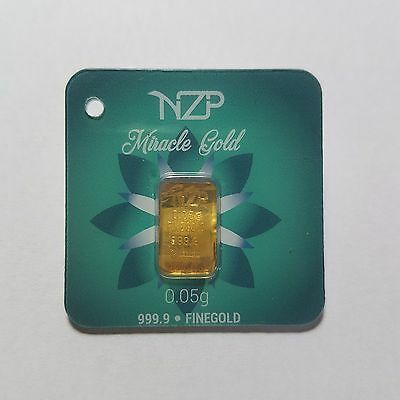 0.05 (1/20) Gram Gold Bar From Nzp Gold 999.9 Pure