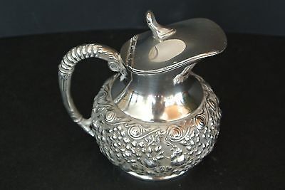 Antique Silver Plated Reed & Barton #268 Raised Floral Creamer