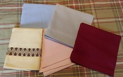 Group of Five Vintage Cotton Towels for Embroidery or Use; Harmony House G80