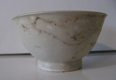 Antique Early  Ming Period Underglaze Blue and WHite Hoi AN Hoard Bowl