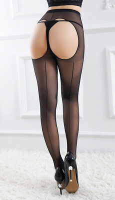 Sexy Women Lady Sheer LINGERIE Open Crotch Stockings Pantyhose CROTCHLESS Tights