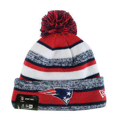 ... order new era nfl new england patriots 2015 red navy beanie stripped  lined pom hat 2cc13 378e977853e4