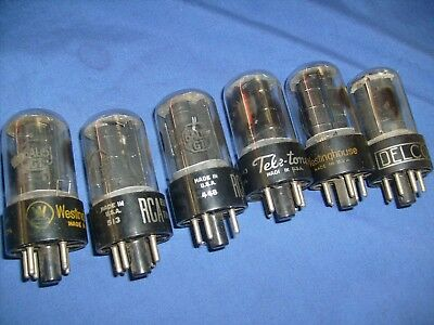 Radio Vacuum Tubes  6AU5GT   Mixed Lot of 6 , RCA, Delco, etc Tested  /sb