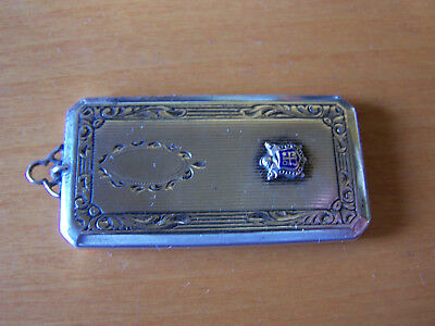 Beautiful Rare Antique Hand Engraved Sterling Silver Double Stamp Case Necklace