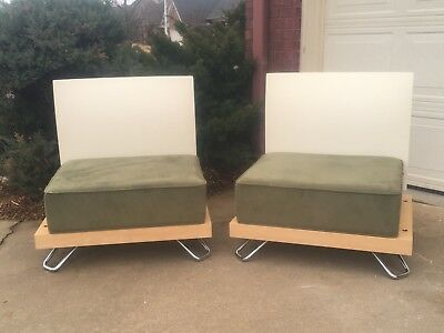 chairs vintage retro mid century modern MCM modular (pair) - see shipping notes