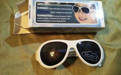 New Babiators Navigators Baby Sunglasses  WHITE