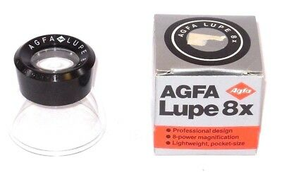 Agfa Vintage 8X Lupe *Made in West Germany* Nice