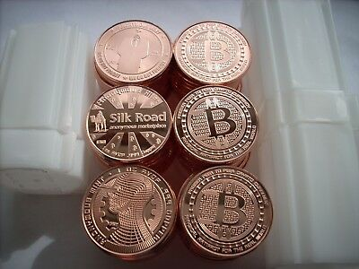 """60-1 Oz Copper Coins Bitcoin Round """"complete Set Of 3"""" Anonymous Mint Coin 1-20"""