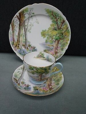 Shelley Woodland Trio Cup Saucer Plate