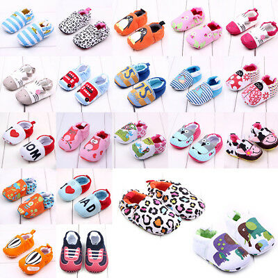 Shoes Prewalker Cotton Toddler Infant Soft Sole Girl Boy Newborn Pram Crib Baby