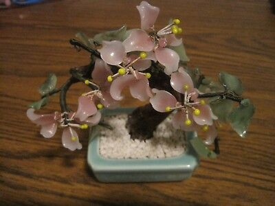 Vintage Japanese Cherry Blossom Bonsai Tree In Pot!      Gumps?