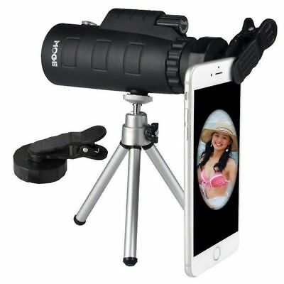 50X60 Zoom Monocular Telescope Lens HD Travel Camera Hiking + Phone Clip +Tripod