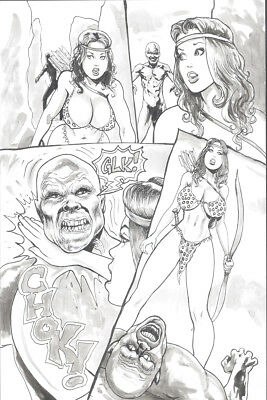 CAVEWOMAN ORIGINAL ARTWORK.  QUIVER by Devon Massey  Page 05