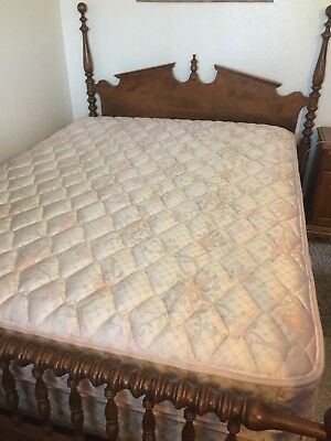 "Vintage 6-Pc ETHAN ALLEN Solid Maple Queen Bedroom Suite ""Heirloom Collection"""