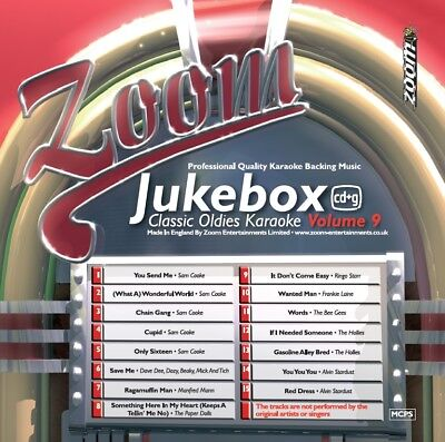 Zoom Karaoke Jukebox Classic Oldies Series CD+G - Volume 9