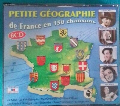 SMALL GEOGRAPHY : OF FRANCE IN 150 SONGS - COMPILATION ( 6 CD ) Ref CO/31