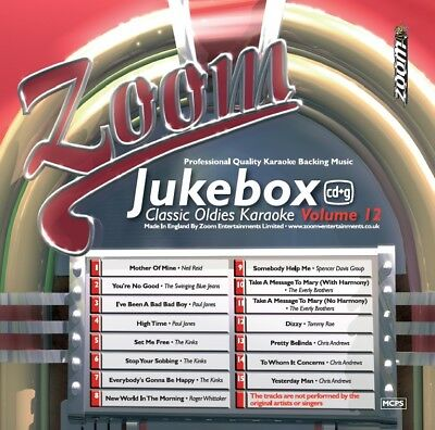 Zoom Karaoke Jukebox Classic Oldies Series CD+G - Volume 12