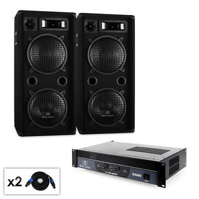 "Dual 10"" Malone Passive Speakers Dj Disco Pa Amplifier 1500W *free P&p Uk Offer"