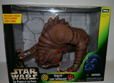 Star Wars / The Power of Force / Rancor and Luke Skywalker Kenner Hasbro