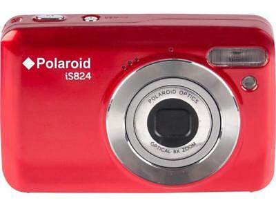 """Polaroid IS824-RED-BOX-PR 16MP 8X Optical Zoom Digital Camera with 2.4"""" Preview"""