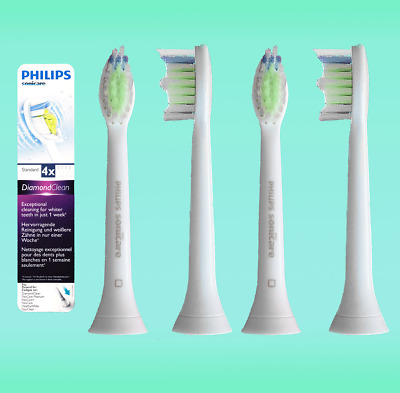 4 DiamondClean Philips Sonicare Toothbrushes Replacement Brush Refills Heads