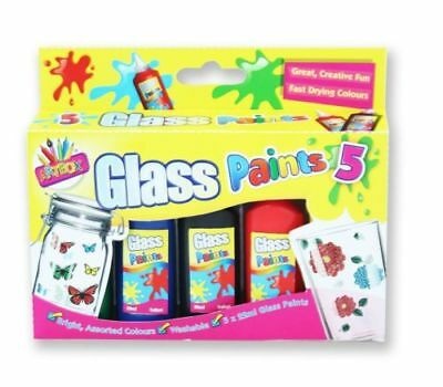 4 pk glass paints vibrant fast drying art craft kids for Fast drying paint for crafts