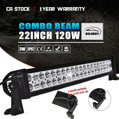 "22"" 120W LED Bar Spot Flood COMBO SUV JEEP TRUCK Work Light Bar 4x4 20 INCH"