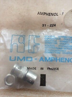RF Connector Twin-BNC Adapter PL 0Hz to 100GHz 50Ohm Amphenol 31-224 £8 Z1910