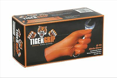 Eppco Tiger Grip Nitrile Gloves, X-Large, Orange New